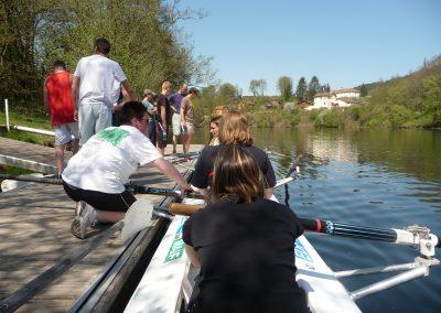 Aviron sur la Moselle