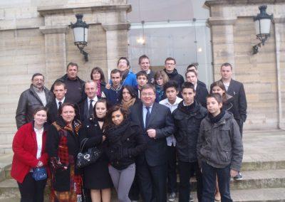 Devant le Palais Bourbon avec M. Vannson député