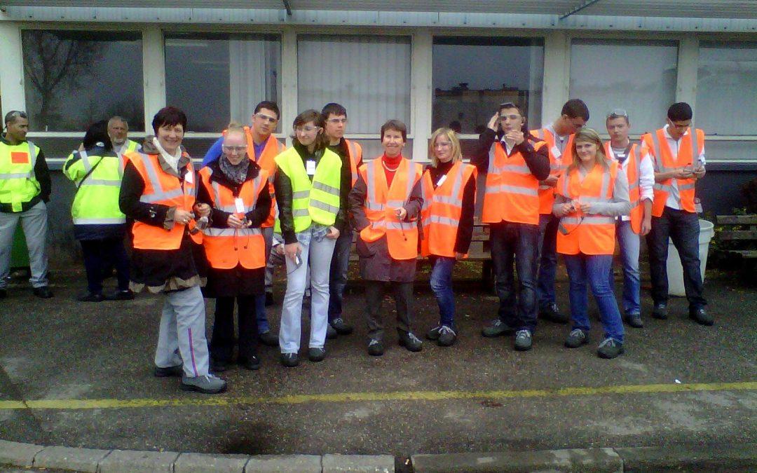 Visite à la centrale de Fessenheim et à l'usine Peugeot de Mulhouse