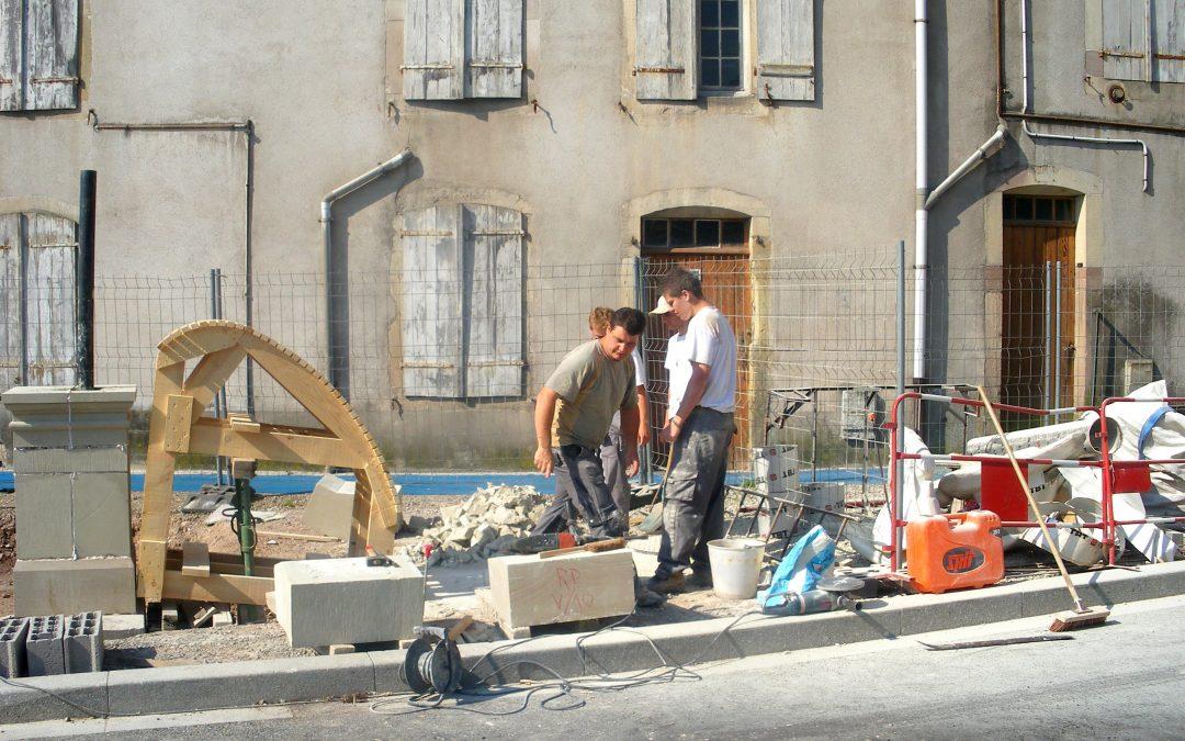 Réalisation d'une fontaine boulevard Thiers à Remiremont