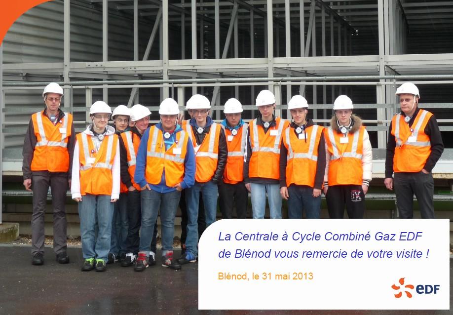 Les élèves de la section électro  visitent les centrales EDF.