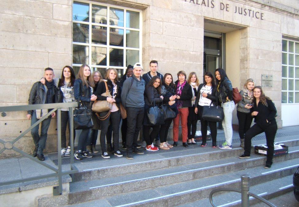 Visite au tribunal correctionnel d'Epinal. Classe de 1° GA