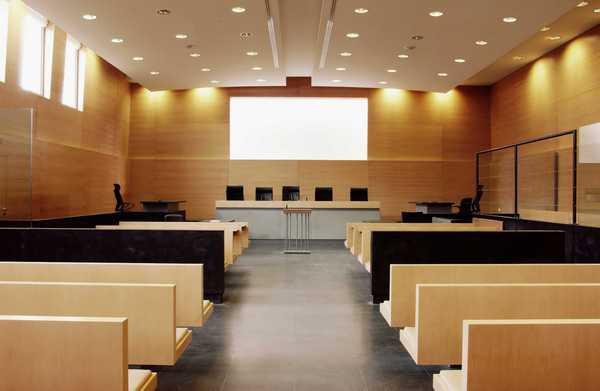 La salle du tribunal