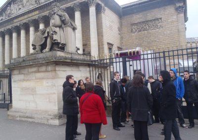 Arrivée à l'Assemblée Nationale