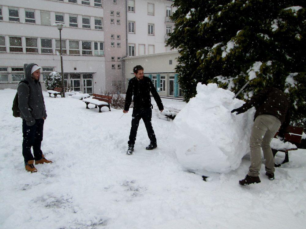 Sculpture bonhomme de neige