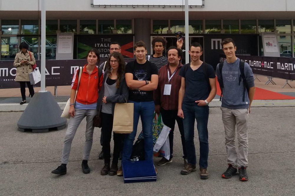 """Participation des Terminales Brevet Professionnel au salon international de la pierre """"MARMOMAC"""" à Vérone en Italie septembre 2017"""
