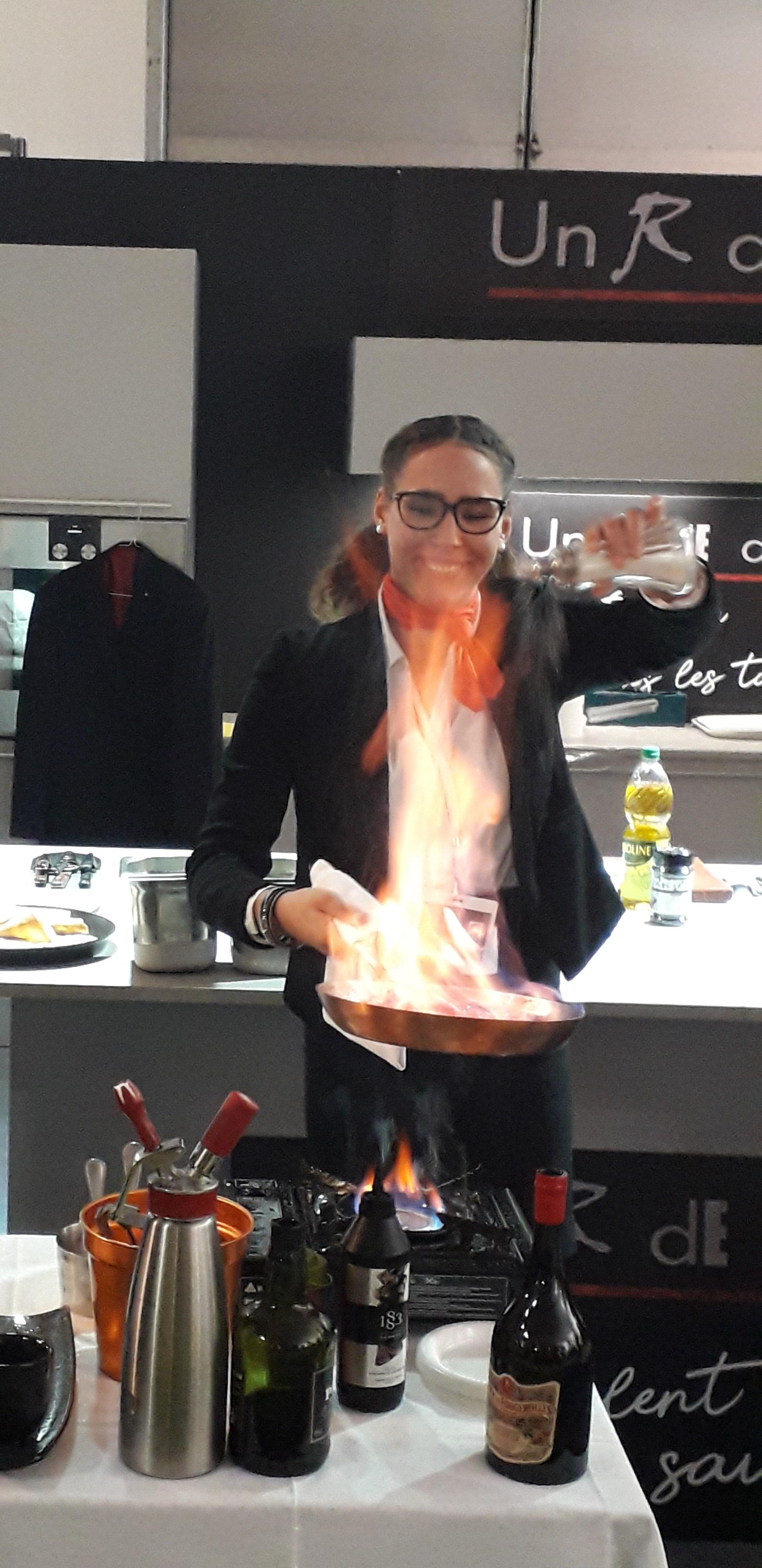 Camilla dans l'épreuve du flambage