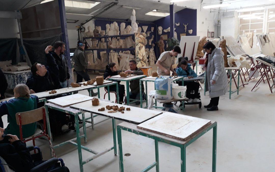 Atelier de moulage avec les élèves de l'IME La Courtine