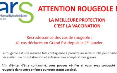 Attention rougeole